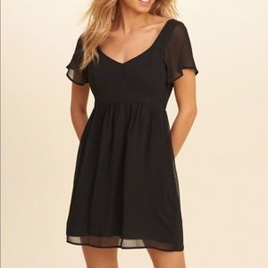Black Chiffon Hollister Dress